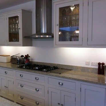 Glass cabinets with glass shelving and lighting are a brilliant way to show off your glass or chinaware