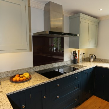 Units By Handmade Kitchens Direct Of Christchurch Painting In Farrow Ball Hague Blue And Gray